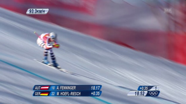 Video «Ski Alpin: Super-G Sotschi, Fahrt Höfl-Riesch (sotschi direkt, 15.02.2014)» abspielen
