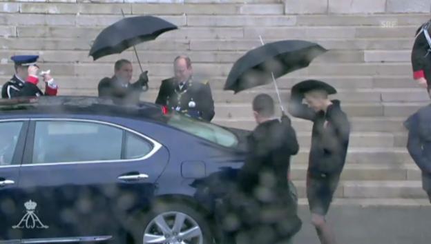 Video «Ein Unwetter bestimmte Monacos Nationalfeiertag» abspielen