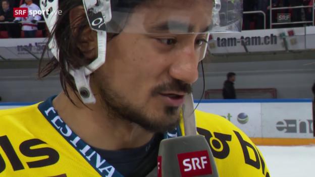Video «Eishockey: Playoff-Viertelfinal Spiel 6, Lausanne - Bern, Stimmen» abspielen
