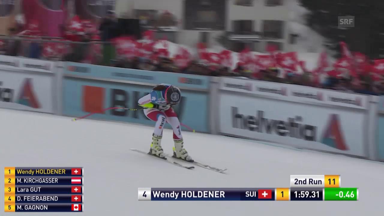 Wendy Holdener fährt in Lenzerheide zum Sieg
