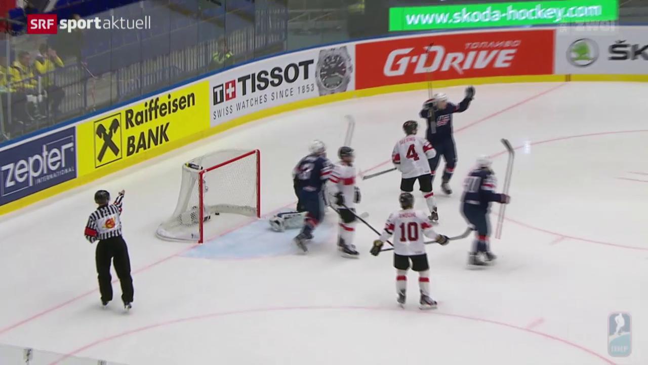 Eishockey: Viertelfinal Schweiz - USA