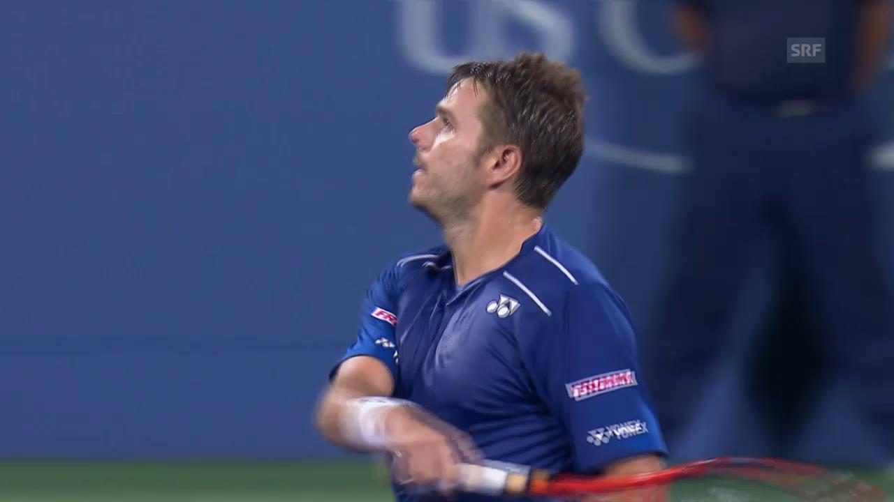 Tennis: US Open, Viertelfinal Wawrinka-Anderson