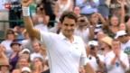 Video «Federer schlägt Juschni in 4 Sätzen» abspielen