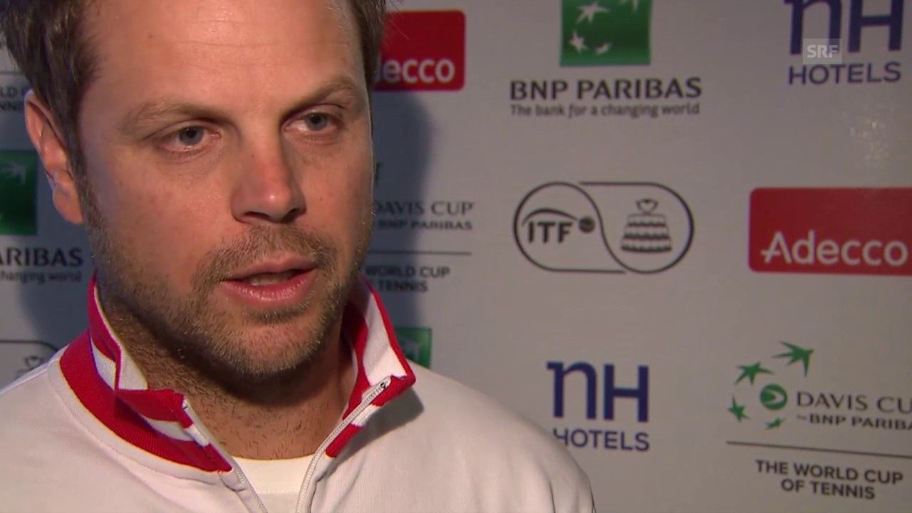 Tennis: Davis Cup, Interview Lüthi