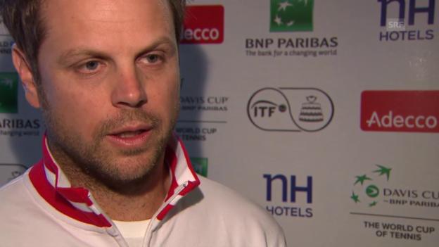 Video «Tennis: Davis Cup, Interview Lüthi» abspielen