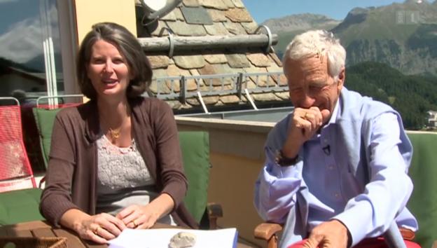 Video «In St. Moritz: Hans Peter Danuser wird Papi mit 67» abspielen