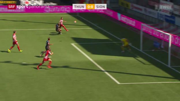 Video «Fussball: Super League, Thun - Sion» abspielen