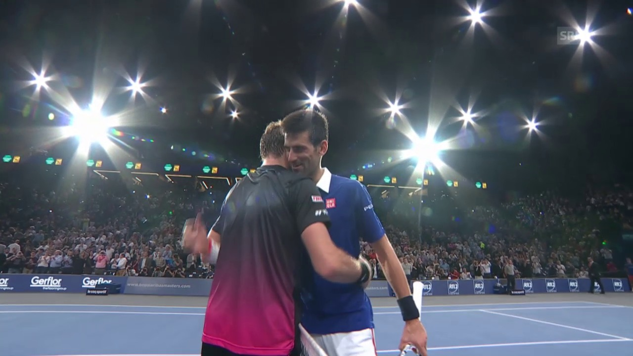 Tennis: ATP Paris, Highlights Djokovic-Wawrinka