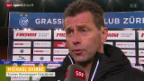 Video «Fussball: Trainerstimmen zu GC-St.Gallen» abspielen