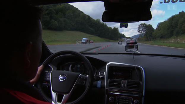 Video «Automatische Notbremsen im Auto: Wem nützen sie?» abspielen