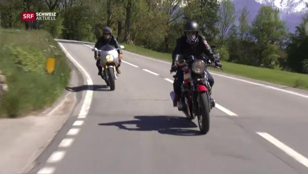 Video «Vom Motorrad zur Bank» abspielen