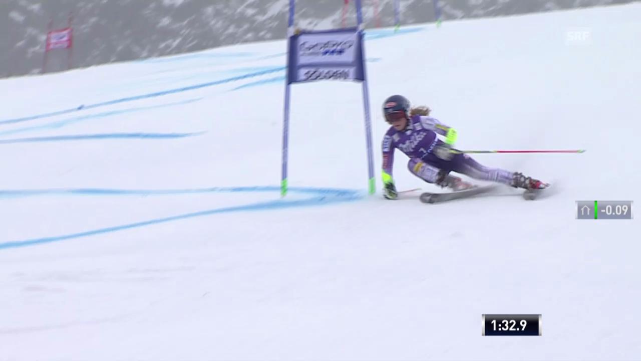 Ski alpin: Riesenslalom in Sölden, 2. Lauf Mikaela Shiffrin