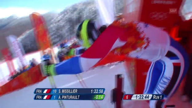 Video «Ski: Riesenslalom Männer Sotschi, 2. Lauf von Alexis Pinturault (sotschi direkt, 19.2.14)» abspielen