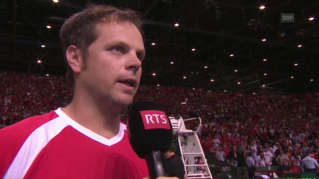 Video «Tennis: Interview mit Captain Severin Lüthi» abspielen