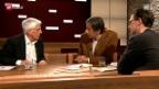 Video «Gesprochen wie geschrieben? Peter von Matt und Pedro Lenz im Gespräch mit Juri Steiner» abspielen