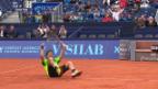 Video «Tennis: Suisse Open in Gstaad, Marti - Gimeno-Traver» abspielen