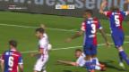 Video «In einem aufwühlenden Match spielen Sion und Basel Remis» abspielen