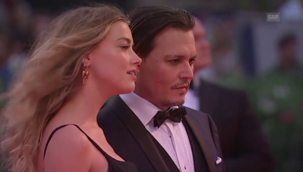 Video «Amber Heard und Johnny Depp am Filmfestival in Venedig (unkomm.)» abspielen