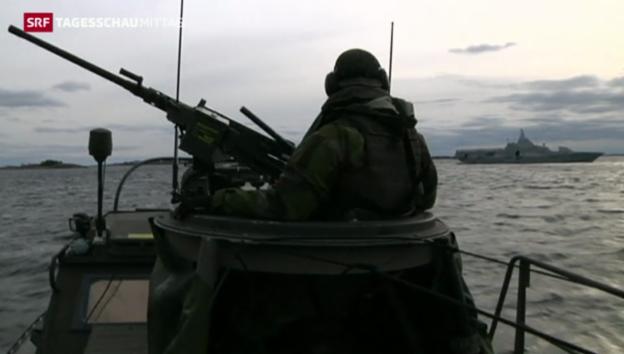 Video «Suche nach U-Boot in Schweden abgebrochen» abspielen