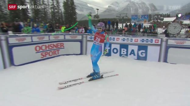 Video «Ski Alpin: Abfahrt der Frauen in Lake Louise» abspielen