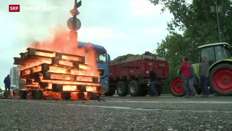 Bauernproteste in Frankreich