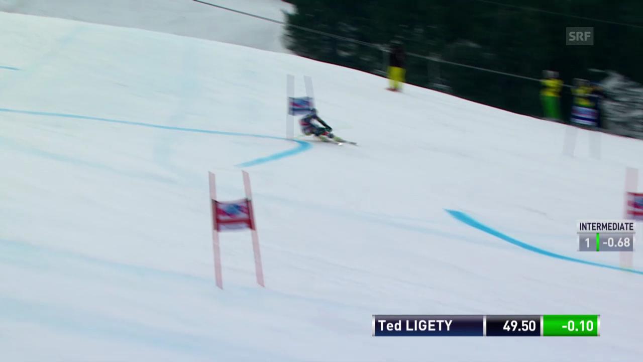 Ski: Weltcup der Männer, Riesenslalom Lenzerheide, Die Fahrt von Ted Ligety («sportlive, 15.03.2014)