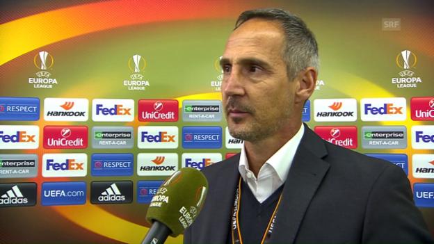 Video «Trainer Adi Hütter: «Ein hochinteressantes Spiel»» abspielen