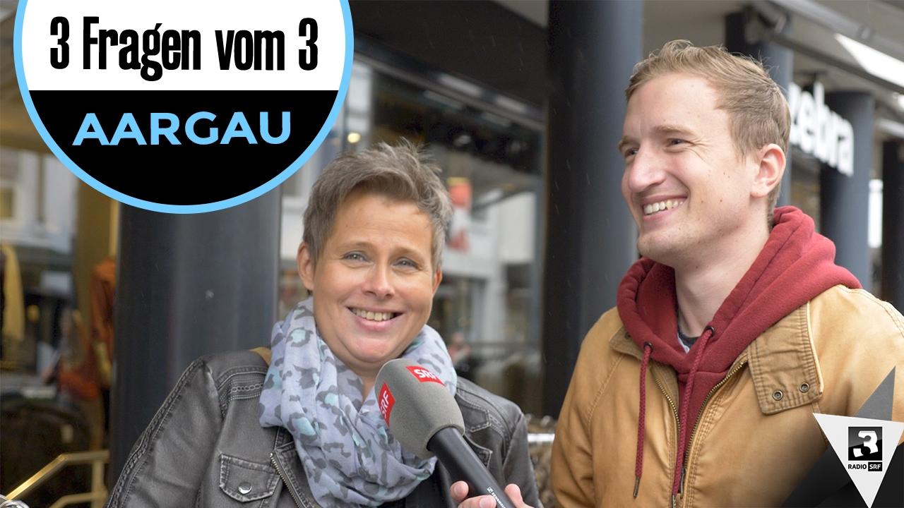 «3 Fragen vom 3» - Stefan Büsser sucht im Aargau nach Antworten