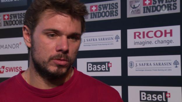Video «Tennis: Wawrinka über seine Form vor dem Turnier in Basel» abspielen