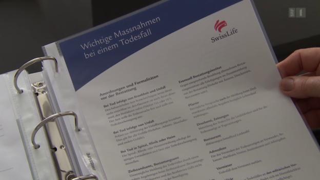 Video «Streit um 3. Säule: Swiss Life übergeht Lebenspartnerin» abspielen