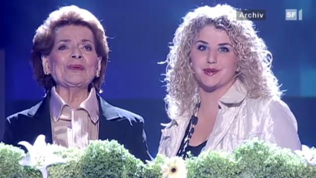 Video «Zu dick? Lys Assia und Beatrice Egli im Knatsch» abspielen
