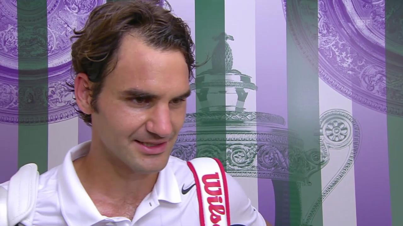 Federer im Siegerinterview
