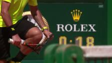 Video «Wawrinka zerstört in Monte-Carlo sein Racket» abspielen