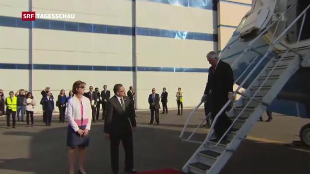 Video «Tillerson auf Besuch in Mexiko» abspielen