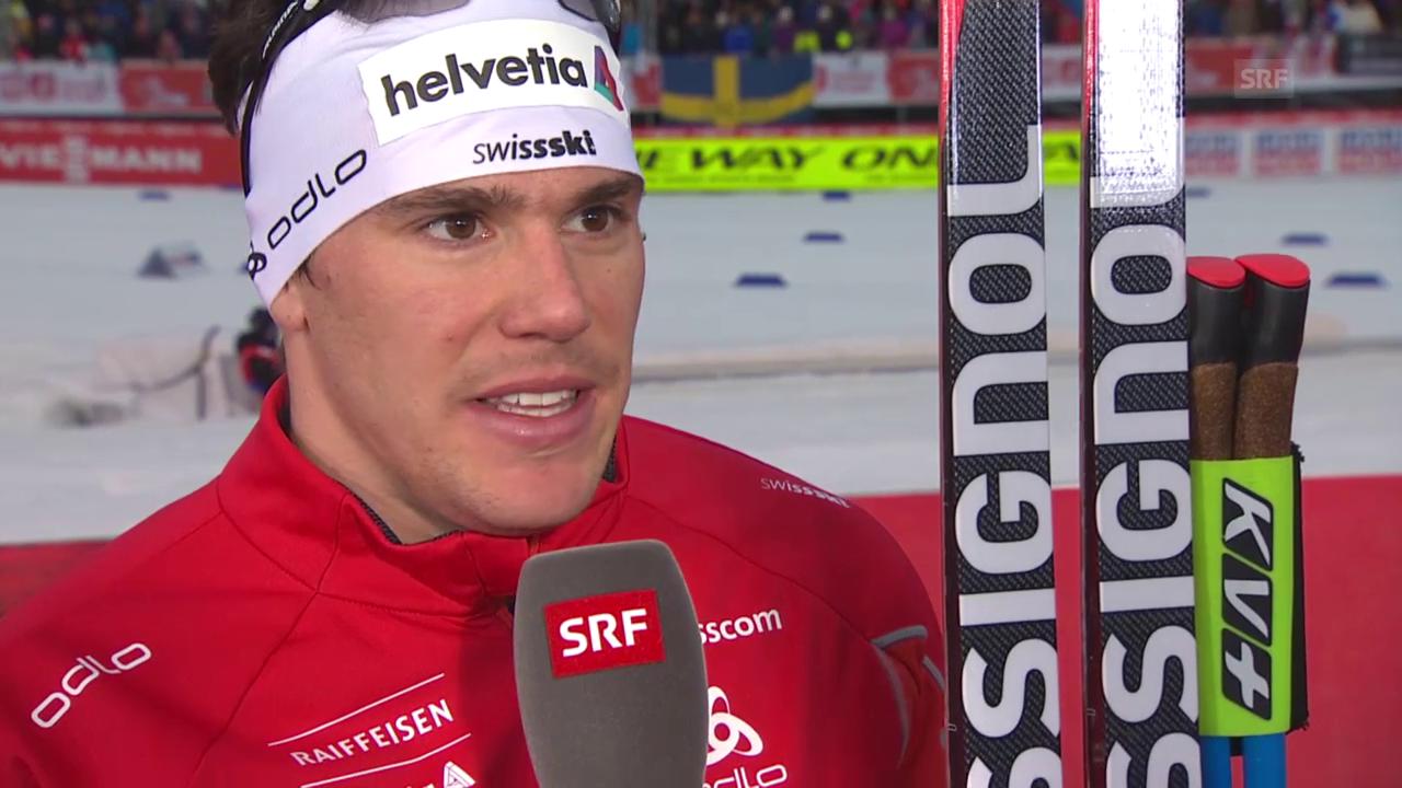 Ski nordisch: WM Falun, Sprint, Interview mit Jovian Hediger