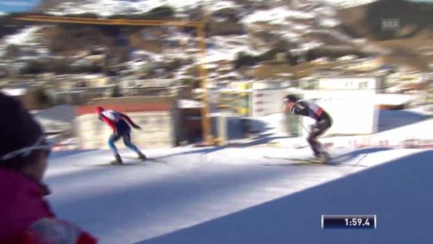 Video «Halbfinal-Heat von Roman Schaad («sportlive», 15.12.2013)» abspielen