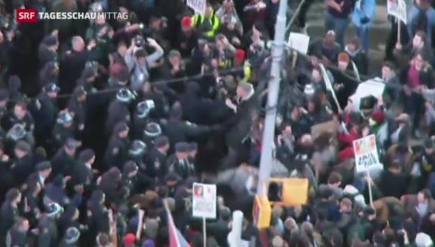 Video «Landesweite Proteste gegen Urteil» abspielen