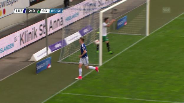 Video «Luzern lässt St. Gallen keine Chance» abspielen