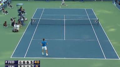 Video «Tennis: Federer im Achtelfinal» abspielen