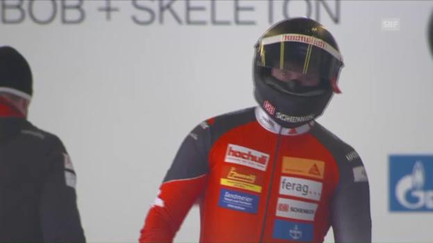Video «Rico Peter bringt seinen Bob auch im 2. Lauf nicht in Fahrt» abspielen