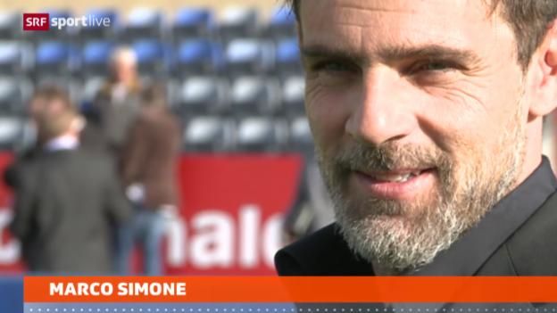 Video «Fussball: Simone übernimmt in Lausanne» abspielen