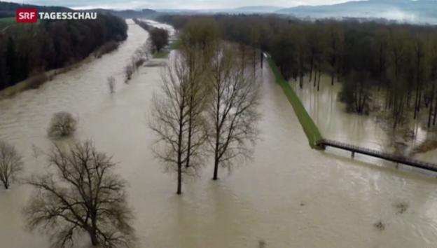 Video «Sturm «Alexander»: Regen statt Schnee» abspielen
