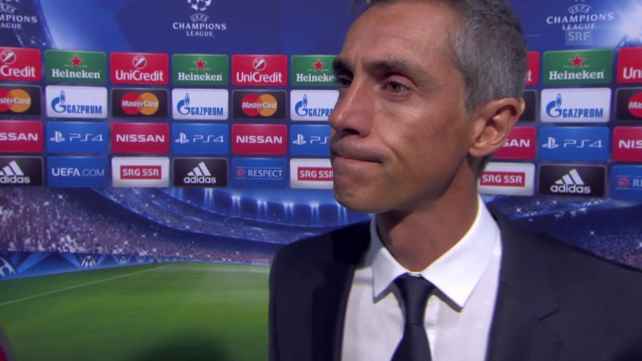 Fussball: Champions League, Interview mit Paulo Sousa (englisch)