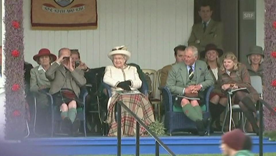 Queen Elisabeth bei den Highland Games 2014