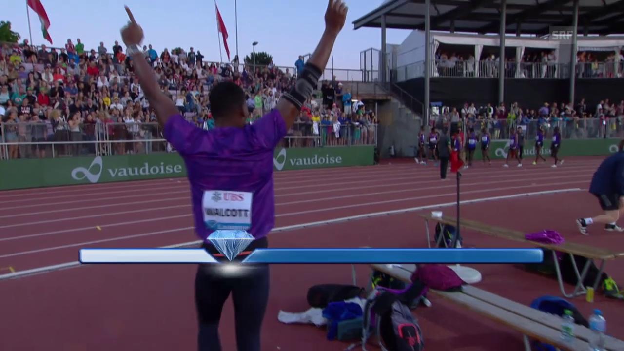 Leichtathletik: Athletissima Lausanne, Speer Männer, Walcott über 90 m