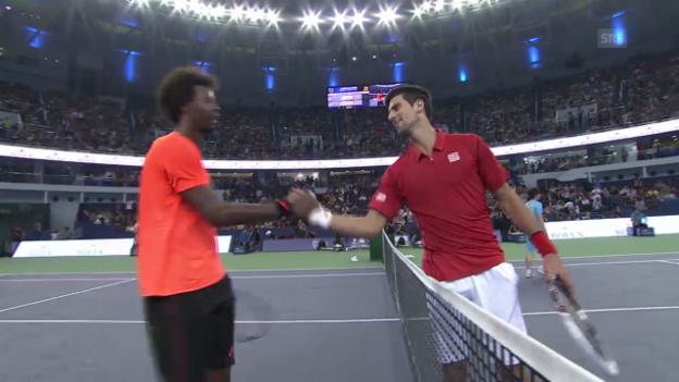 Video «Tennis: Djokovic - Monfils: Der Matchball («sportlive»)» abspielen