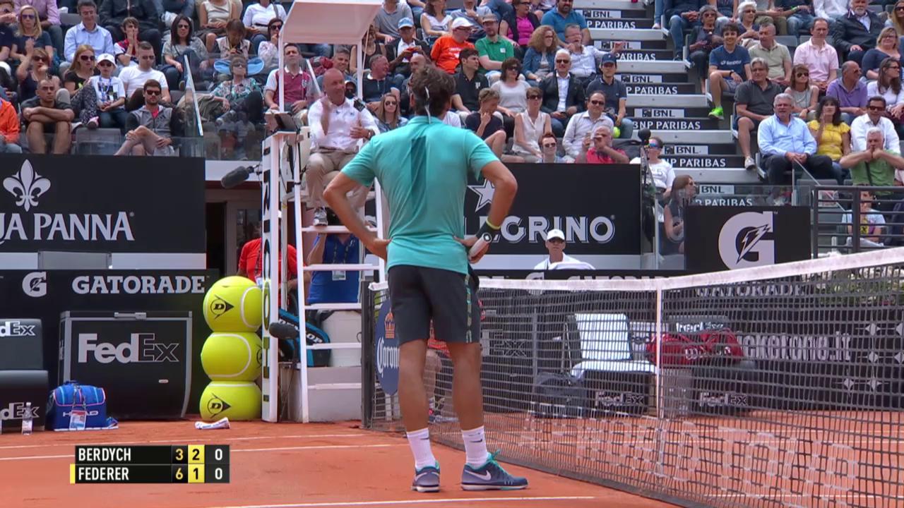 Tennis: Federer-Berdych, Referee lässt Punkt wiederholen