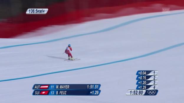 Video «Sotschi: Ski, Abfahrt Männer, Fahrt von Feuz» abspielen