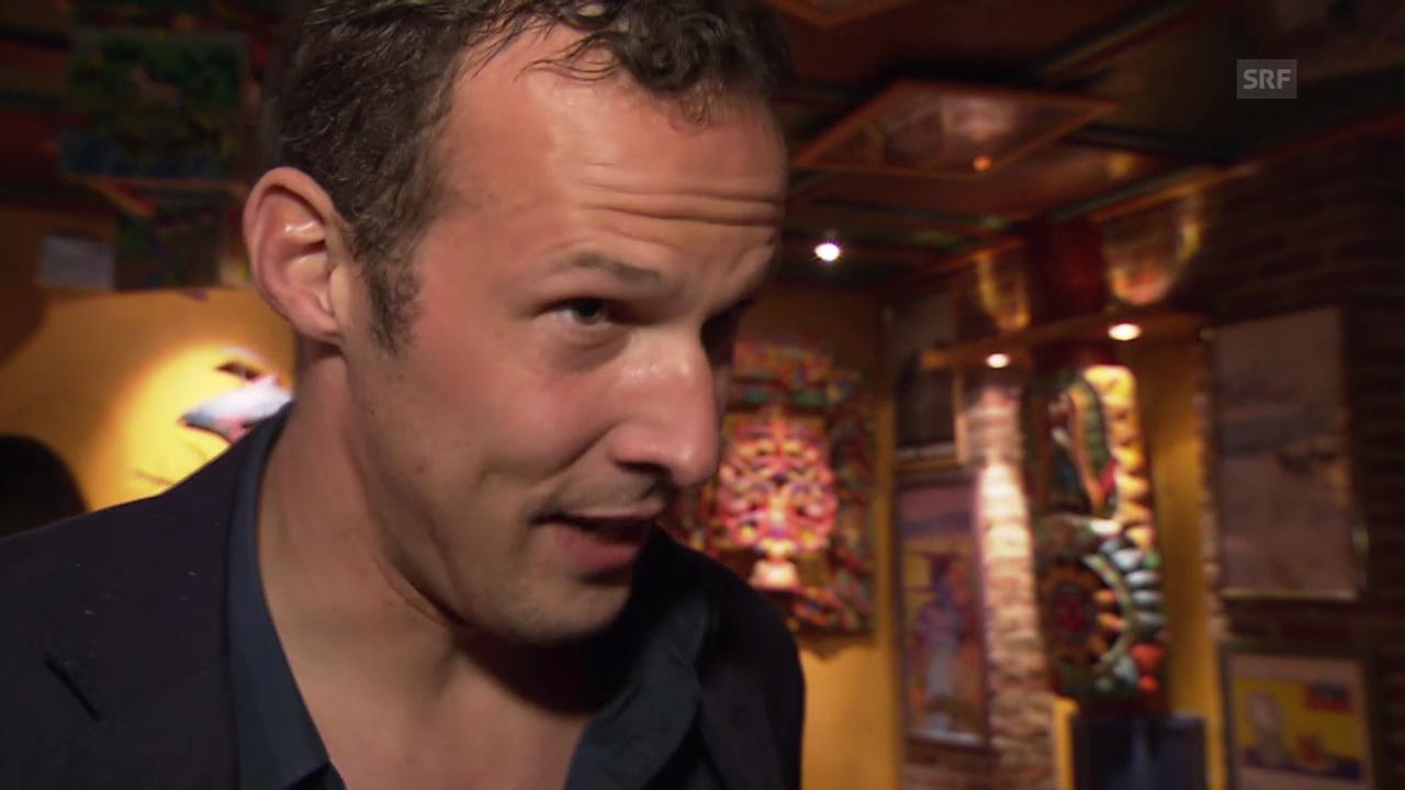 Fussball: Meisterfeier Basel, Interview Marco Streller