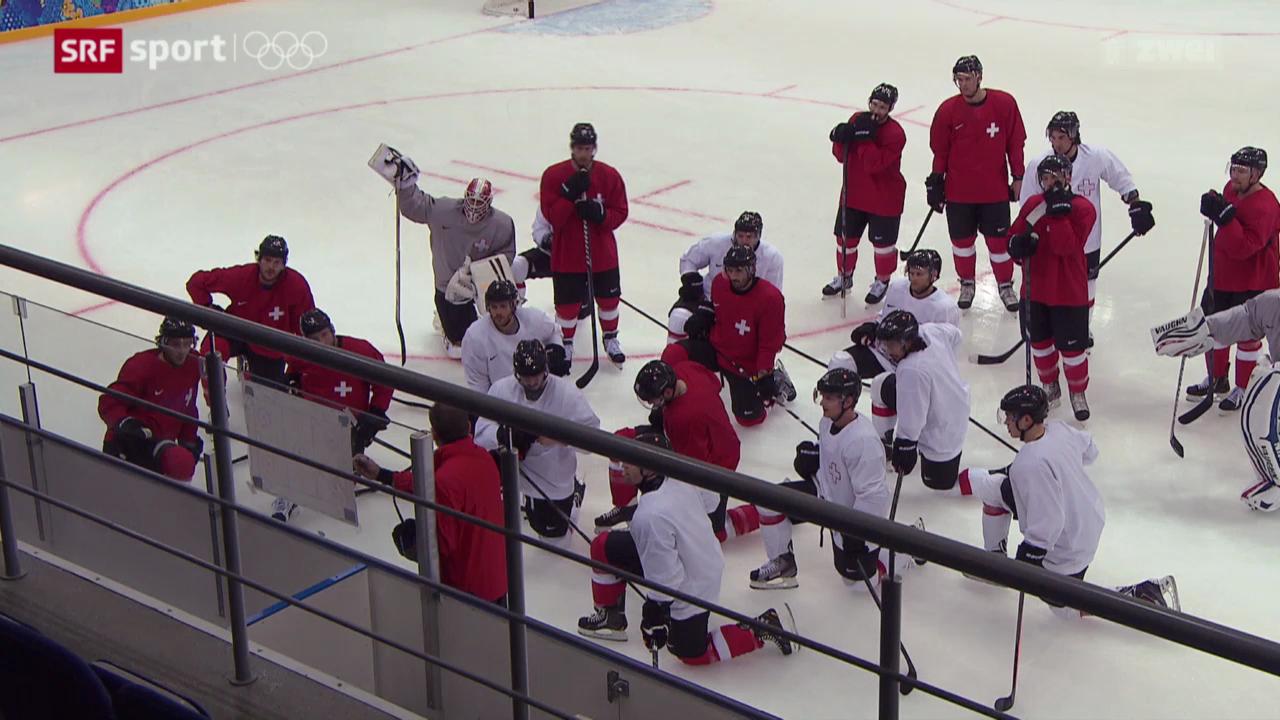 Eishockey: Training der Schweizer Nati